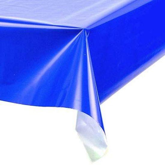 Toalha Plástica Perolada Liso Azul Royal - 10 Un