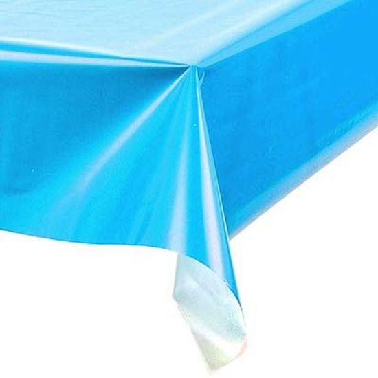 Toalha Plástica Perolada Liso Azul Claro - 10 Un