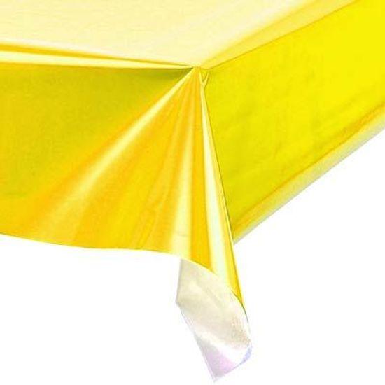 Toalha Plástica Perolada Liso Amarelo - 10 Un