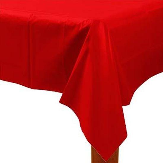 Toalha de Mesa Retangular Colorline Vermelho 1.37x2.74m