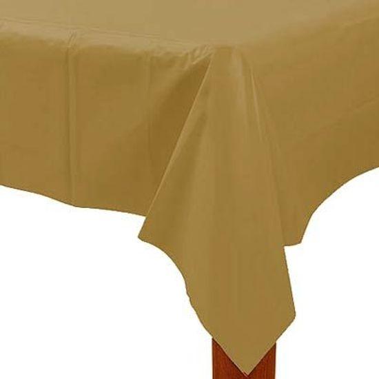 Toalha de Mesa Retangular Colorline Ouro 1.37x2.74m