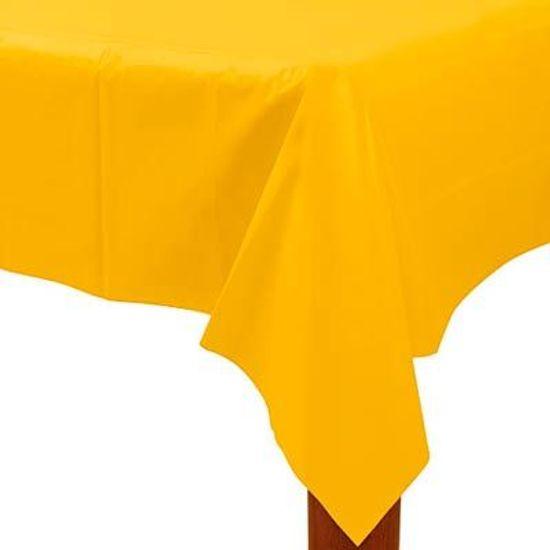 Toalha de Mesa Retangular Colorline Amarelo 1.37x2.74m