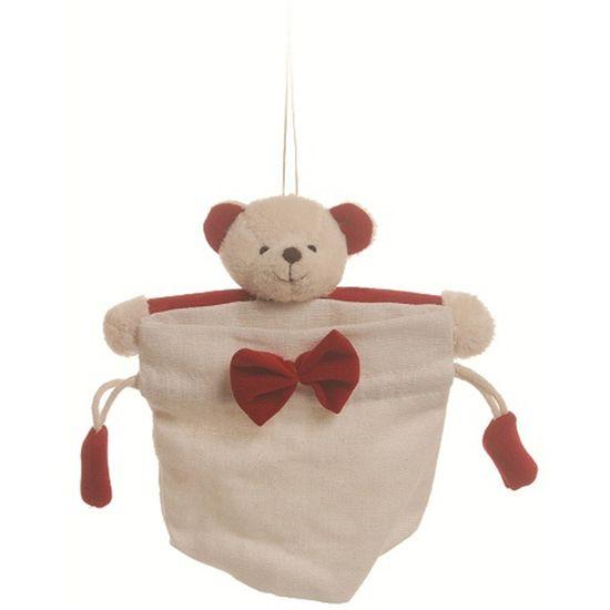 Bolsinha Urso Bege Vermelho ( Bolsinhas ) - 6 Un