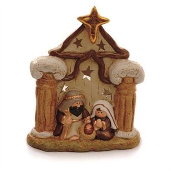 Castelinho com Estrela Marfim (Sagrada Família)  - 4 Unidades