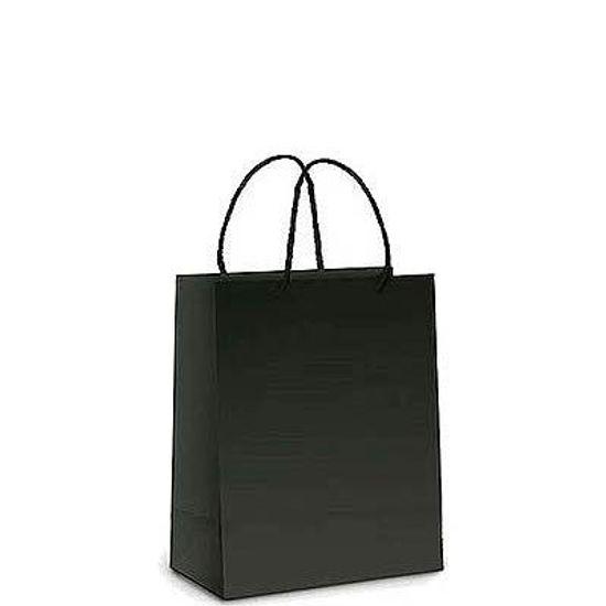 Sacola Cartonada 9.5x10.5cm Liso Preto - 10 Un