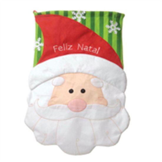 Saco de Presente Noel Vermelho e Verde (Saias e Acessórios) - 2 Un