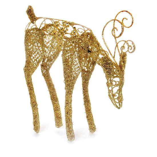Rena com Cabeça para Baixo Ouro 26 cm (Marrocos) - 2 Un