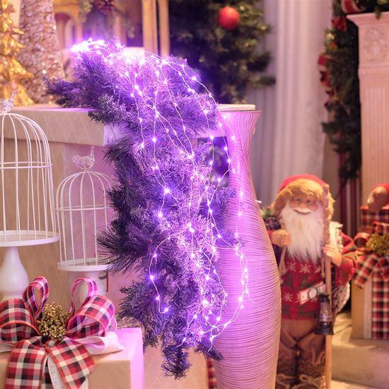 Iluminação de Natal - Rattan 160 Leds Bivolt Rosa Claro