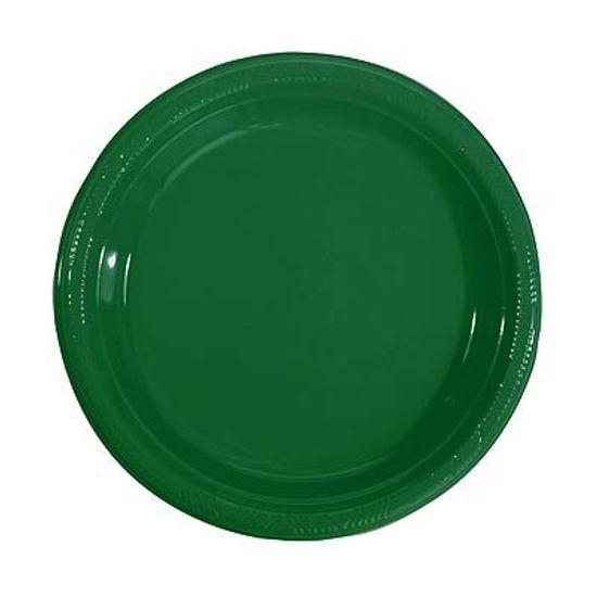 Prato Plástico 22cm Happy Line Verde - 10 Un