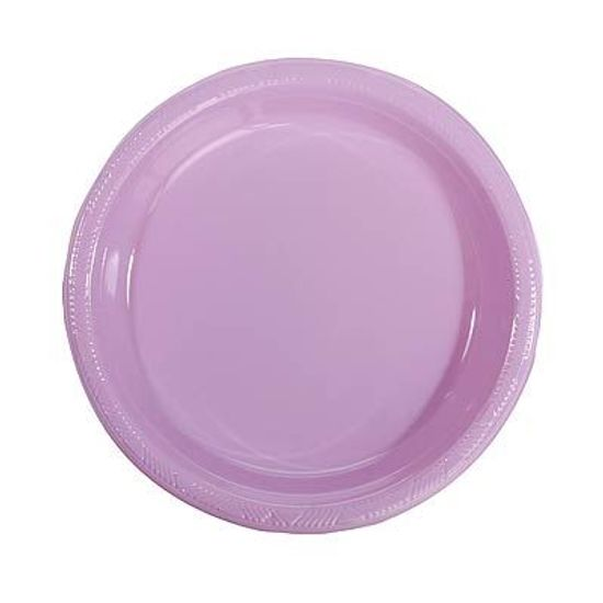 Prato Plástico 22cm Colorline Lilás - 10 Un