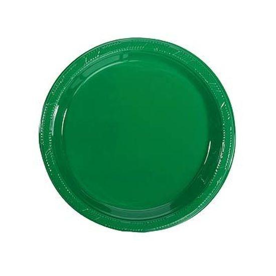 Prato Plástico 18cm Happy Line Verde - 10 Un