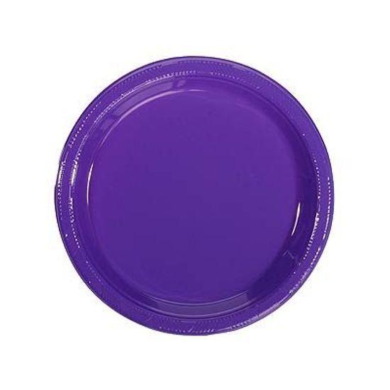 Prato Plástico 18cm Happy Line Roxo - 10 Un