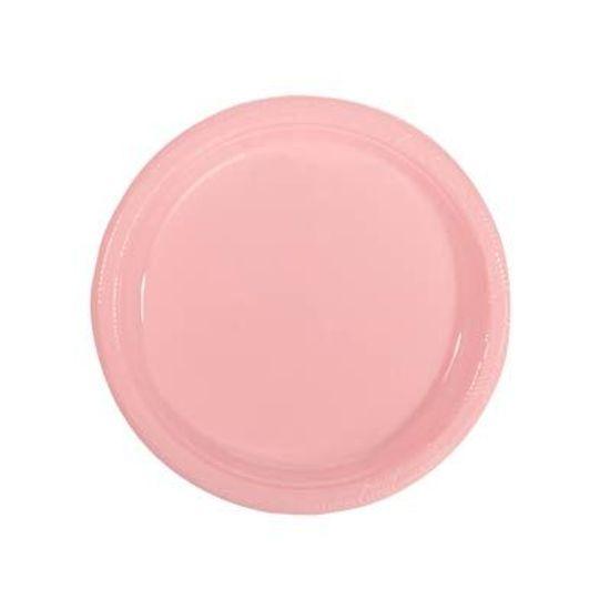 Prato Plástico 18cm Happy Line Rosa - 10 Un