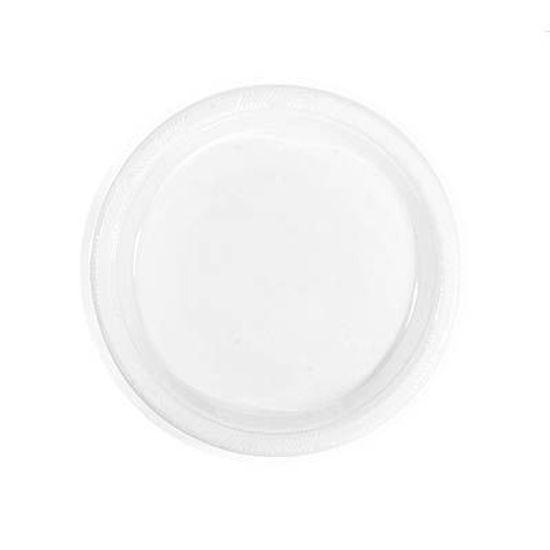 Prato Plástico 18cm Happy Line Branco - 10 Un