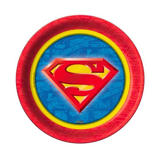 Prato Descartável Superman - 08 Un