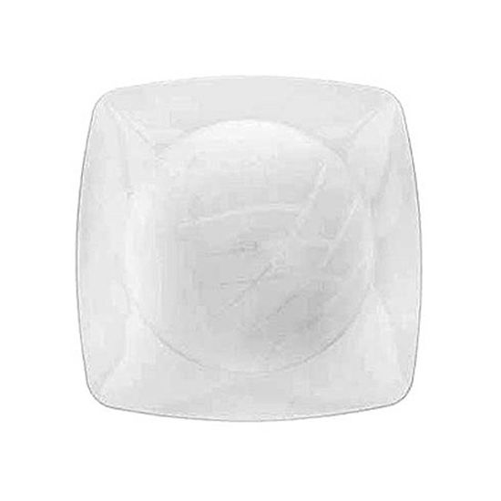 Prato Descartável Sobremesa Médio Quadrado Cristal - 10 Un