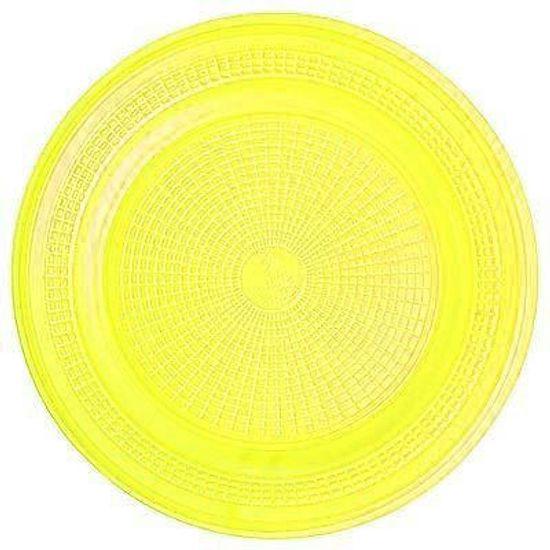 Prato Descartável Sobremesa Color Plástico Amarelo - 10 Un
