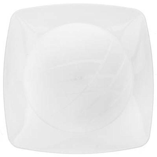 Prato Descartável Refeição Grande Quadrado Branco - 10 Un
