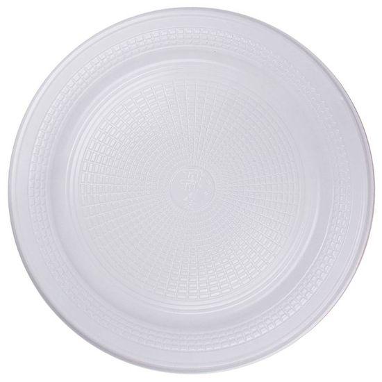 Prato Descartável Refeição (20cm) Linha Branca - 10 Un