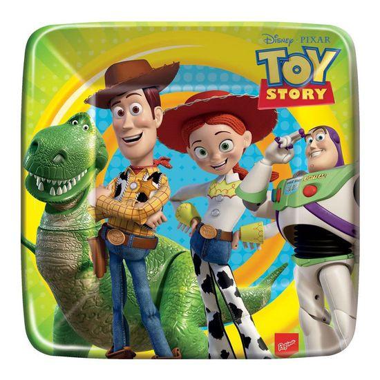Prato Descartável Quadrado Toy Story no Espaço - 08 Un