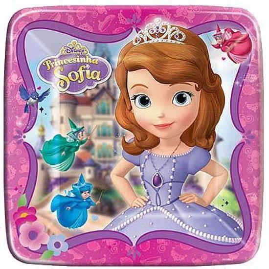 Prato Descartável Princesa Sofia - 08 Un
