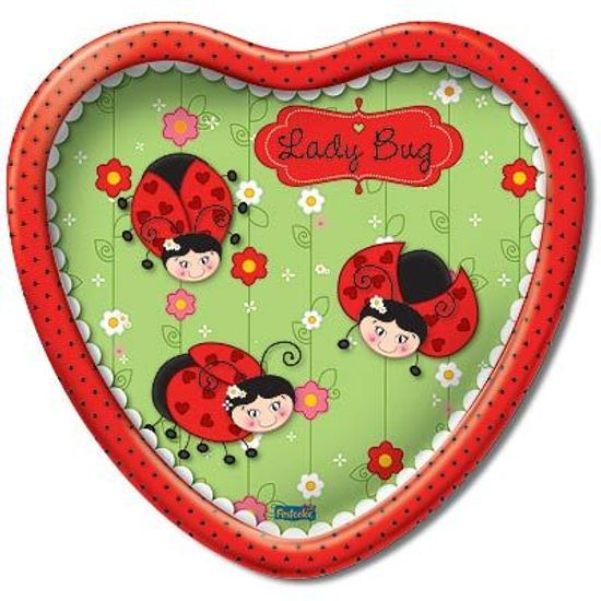 Prato Descartável Joaninha (Ladybug) - 08 Un
