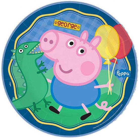 Prato Descartável George Pig - 08 Un