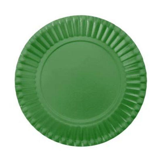 Prato Descartável Cartonado Pequeno 15cm Verde Escuro - 10 Un