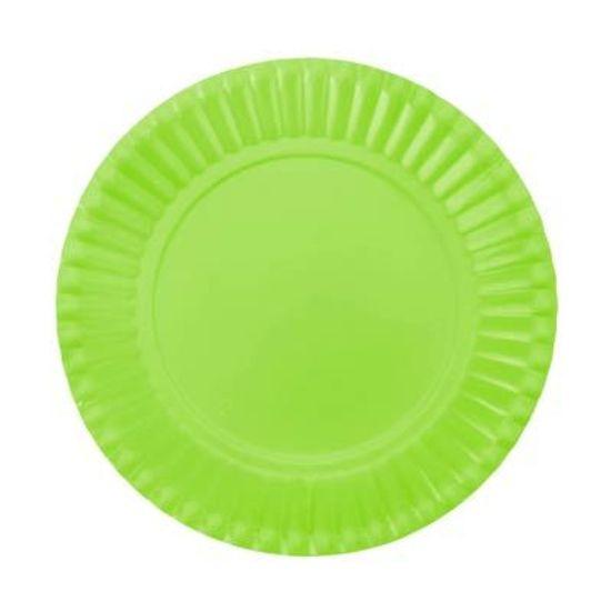 Prato Descartável Cartonado Pequeno 15cm Verde Claro - 10 Un