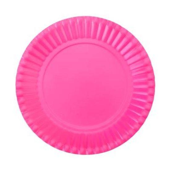 Prato Descartável Cartonado Pequeno 15cm Pink - 10 Un