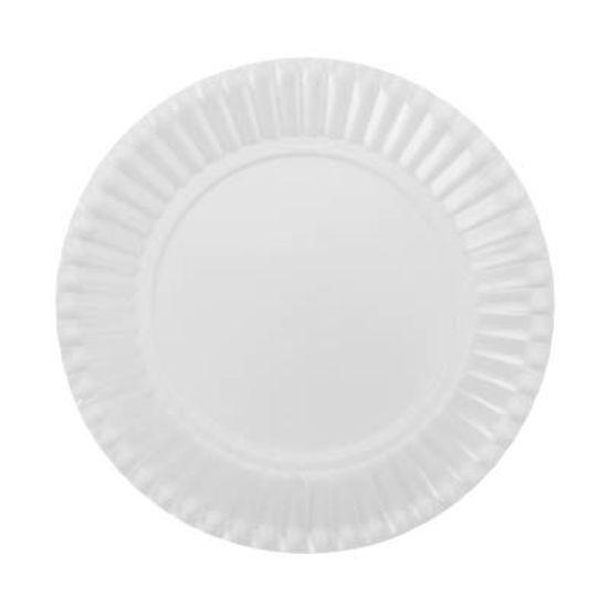 Prato Descartável Cartonado Pequeno 15cm Branco - 10 Un