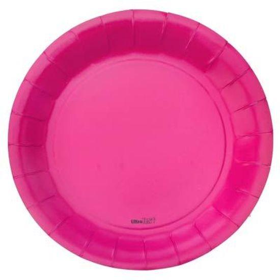 Prato Descartável Cartonado Médio 18cm Pink - 08 Un