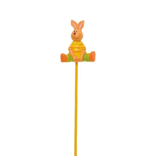 Picks Resina Coelho Roupa Amarelo 22cm - 6 Un 22