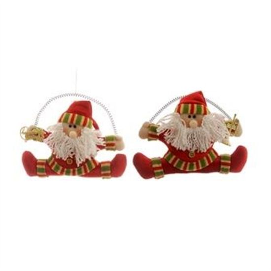 Noel para Pendurar Segurando Presente Vermelho e Branca