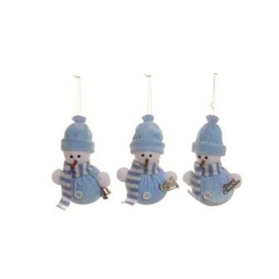 Boneco de Neve com Cachecol Azul Claro (Petit) - 6 Jogos com 3 Peças