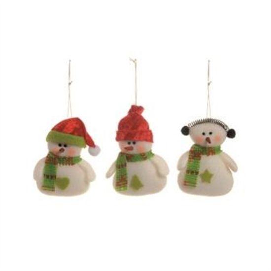 Boneco de Neve com Cachecol Verde (Petit) - 6 Jogos com 3 Peças