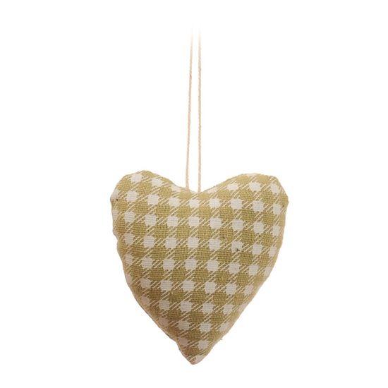 Coração Xadrez Verde e Branca