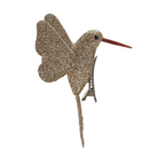Beija Flor com Glitter Nude (Pássaros) - 4 Peças