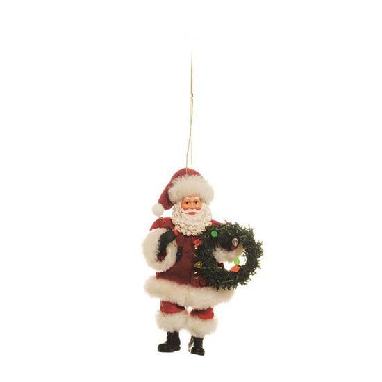 Papai Noel Segurando Esqui Branco e Vermelho Tamanho G ( Noéis) - 2 Un