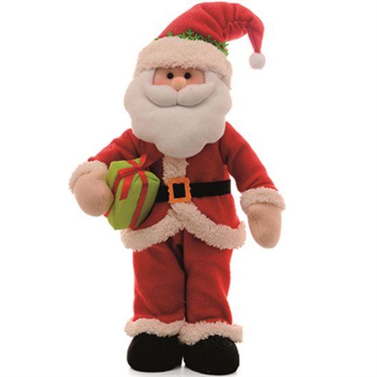 Gostosura - Papai Noel Pequena em Pé com Presente (52cm)