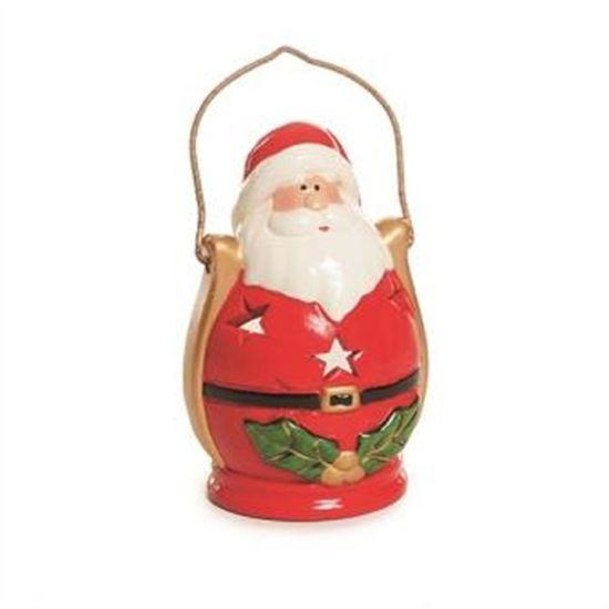Porta Vela Lareira com Noel (Luz de Natal) - 6 Un