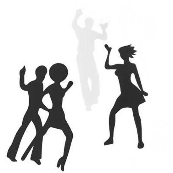 Painel Silhuetas Dance em E.V.A - 07 Un