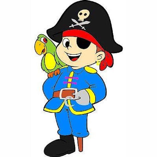 Painel Médio em E.V.A Pirata com Gancho - 53cm