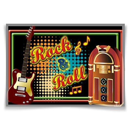 Painel Horizontal Rock and Roll - 106x75cm