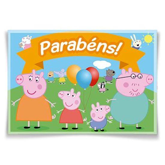 Painel Horizontal Peppa Pig - 106x75cm