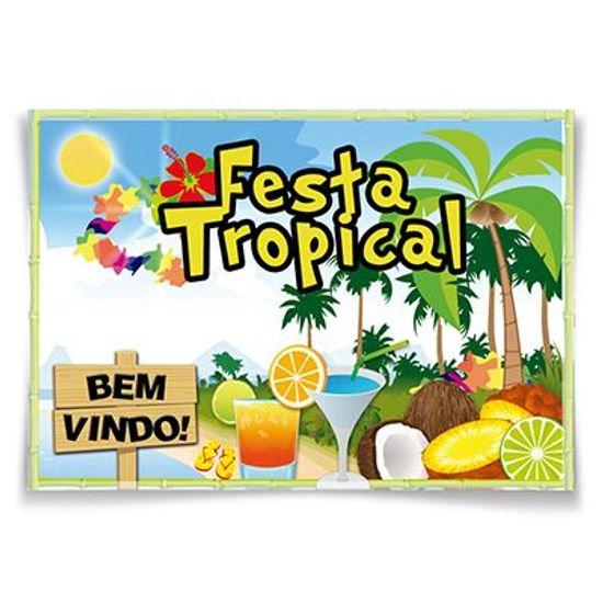 Painel Horizontal Festa Tropical - 106x75cm