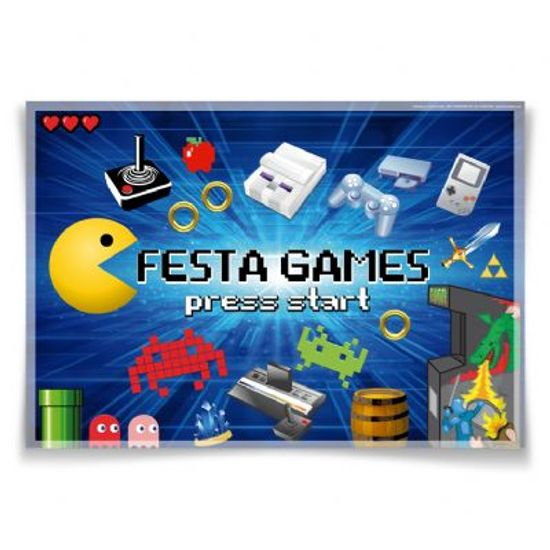 Painel Horizontal Festa Games - 106x75cm