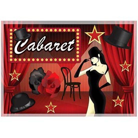 Painel Horizontal Festa Cabaret - 106x75cm