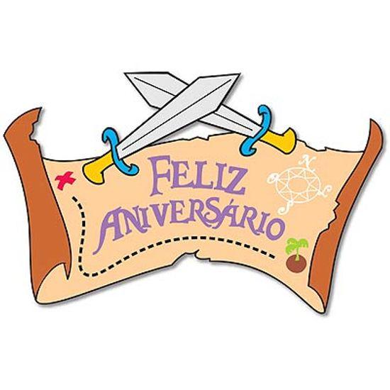 Festa Piratas - Painel Feliz Aniversário em E.V.A - Piratas FL - Painel Feliz Aniversário em E.V.A - Piratas