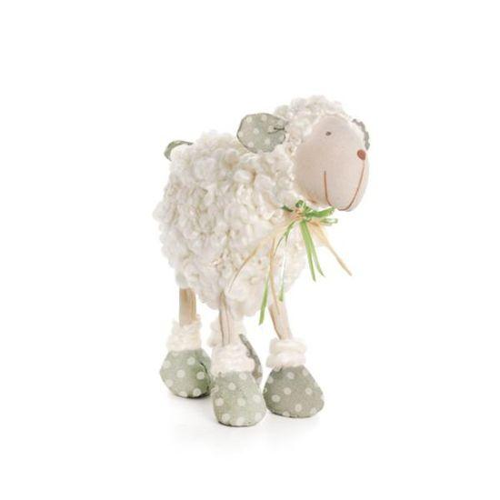 Cromus - Ovelha Lã com Laço Verde Claro Tamanho Pequeno ( Marzipan ) - 2 Unidades